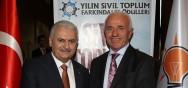Nafi GÜRAL, Yılın Sivil Toplum Farkındalık Ödülleri Törenine Katıldı